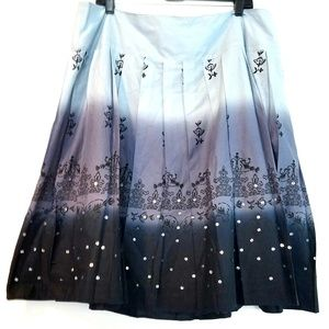 18 Venezia by Lane Bryant Ombre Cotton Skirt